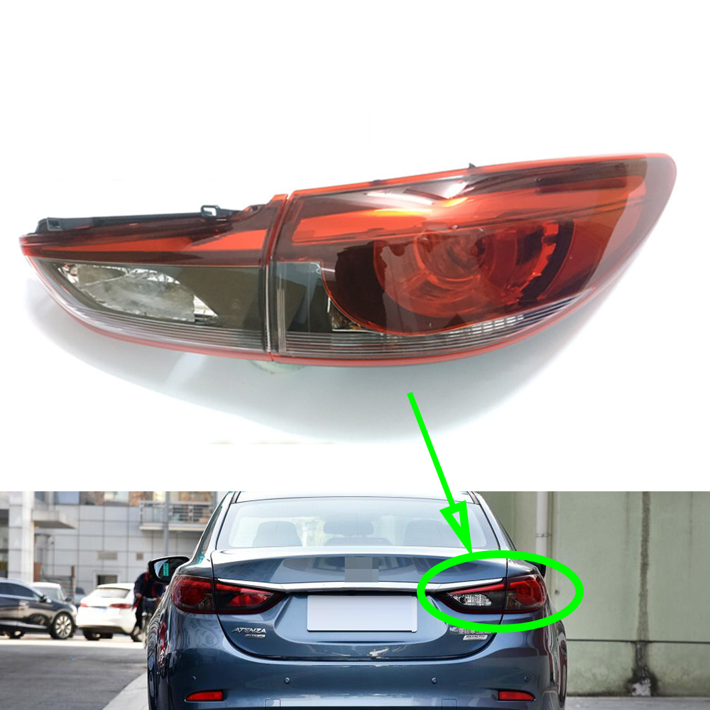 Taillight for <font><b>Mazda</b></font> <font><b>6</b></font> Atenza 2017 2018 2019 Tail Lamp <font><b>LED</b></font> Car Rear Turning Signal Brake Lamp Warning Bumper Tail <font><b>Light</b></font> image