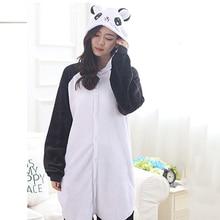Dorosłych Panda Cartoon Kigurumi przebranie na karnawał kobiety luźne dziecko zima zwierząt Onesie kombinezon chłopiec Anime flanelowa piżama bielizna nocna