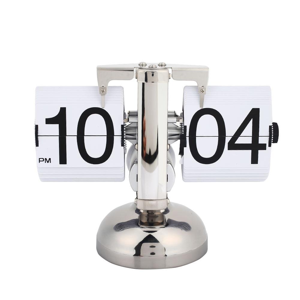 Rétro moderne échelle numérique Auto Flip simple support bureau Table horloge blanc
