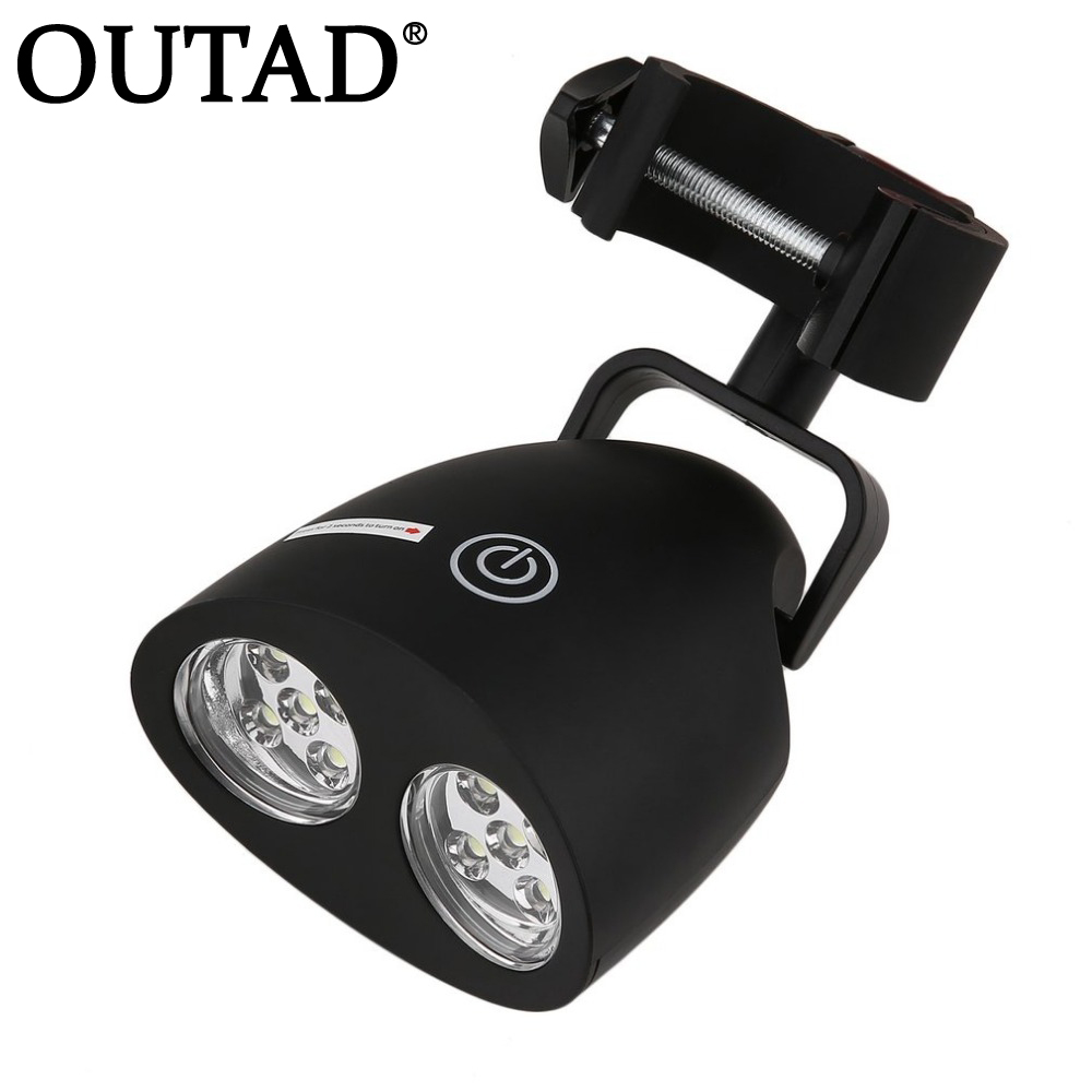 OUTAD Adjustable 10 LED BBQ Grill Barbecue Light Outdoor Handle Mount Clip Camp Lights Waterproof Heat Resistance Lamp