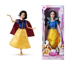 Original Disney Doll Snow White Jasmine Belle Aurora Rapunzel  Ariel Princess Doll Figure Action New Year Gift Doll for Girl