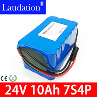 24 V 10ah 10000 mAh Lithium Ion Battery 15A BMS 250W 24V 350W Battery Pack for Wheelchair Electric Motor Kit Electric Power