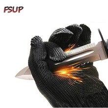 Cut Resistant Gloves/Food Grade Gloves/Black Metal Fishing Steel Mesh Gloves-Safety Food Grade Cutting Gloves for Kitchen Work