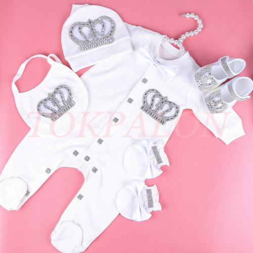 0-6 month bodysuit baby girl clothes set rhinestone crown romper ropa bebe verano newborn baby jumpsuit pajamas outfit gift 2020