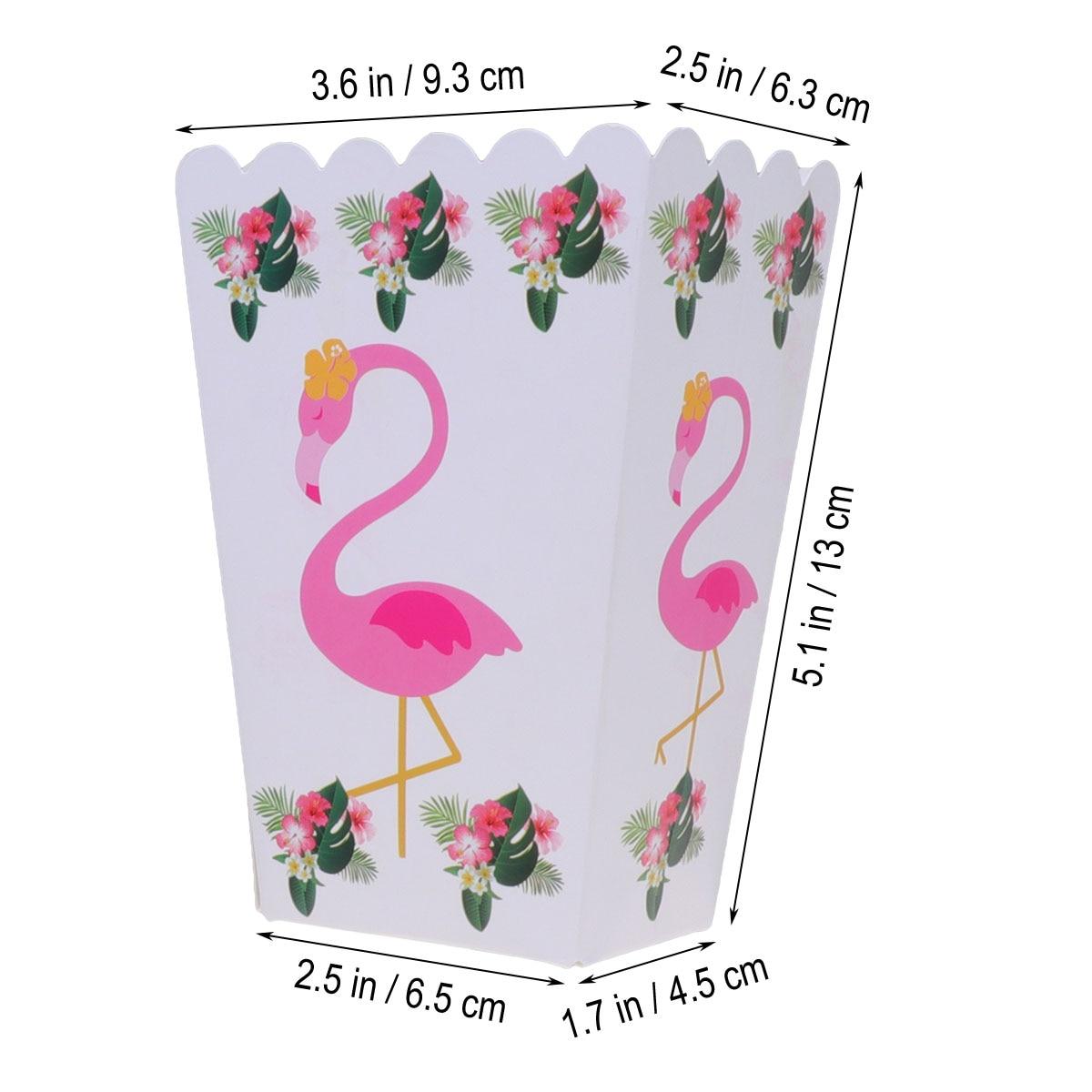 6 Flamingo Popcorn Boxes