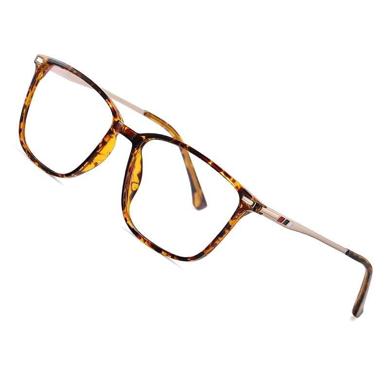 AOFLY Blue Light Blocking Glasses Women Men Square Myopia Prescription Eyeglasses 2020 Alloy Temple Optical Eyewear Frame UV400