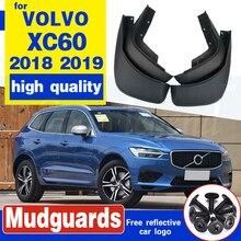 4Pcs Front Rear Car Mud Flaps For Volvo XC60 2018 2019 Mudflaps Splash Guards Mud Flap Mudguards Accessories 31435990/31435991 window visor vent shades sun rain guard 4pcs for volvo xc60 2009 2015
