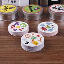 Развивающие карты для родителей и детей, бумажная доска, интерактивная игра, флэш-карта, Детская обучающая английская настольная игра семейное развлечение, игра в покер