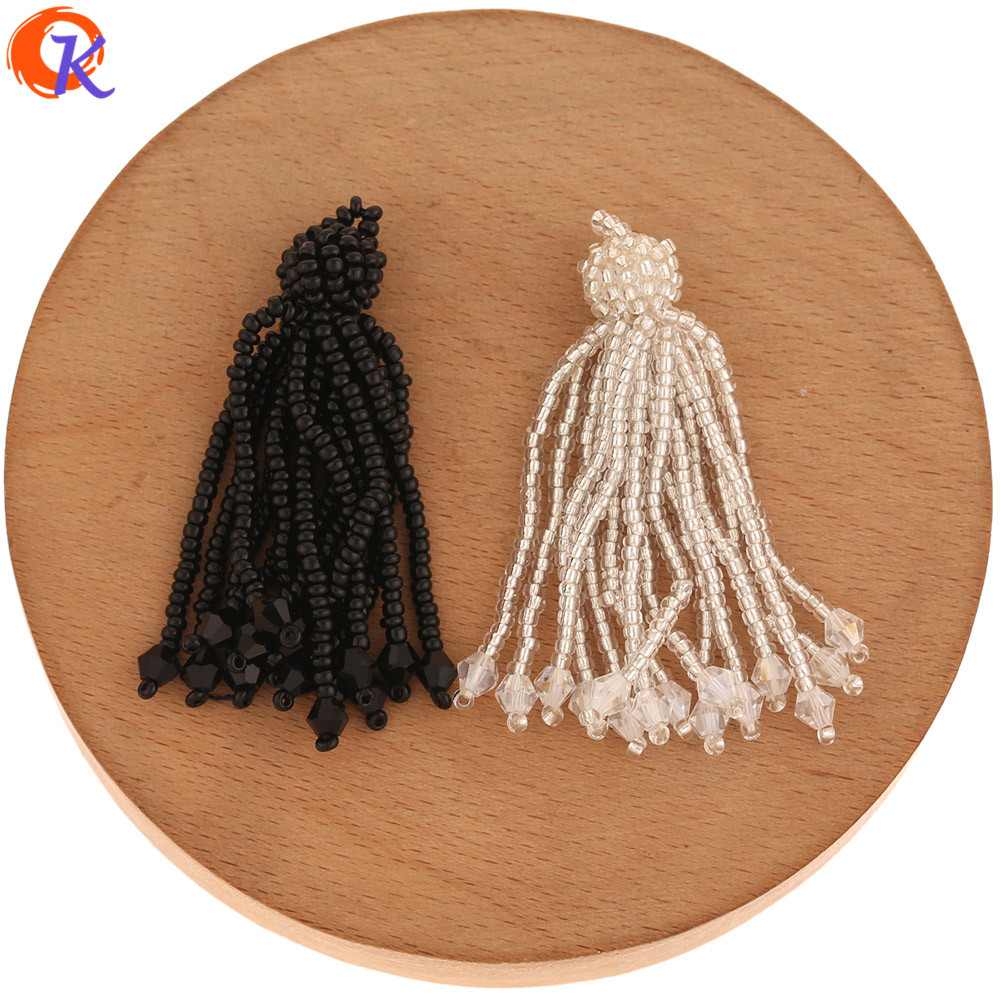 Cordial Design 10Pcs 10*55MM Jewelry Accessories/Seed Bead Charms/Hand Made/Tassel Shape/Crystal Earring Findings/DIY Making