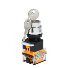 1Pcs Listrik Rotary Switch Tombol 22Mm 2/3 Posisi Pemilih Tombol Power Switch Self-Locking 1NO 1NC LA38-11Y2 LA38-11Y3()