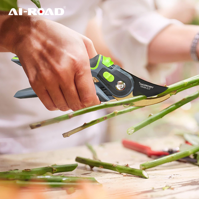 AI-ROAD With Lock Garden Prunch Shear Branch Pruner Scissor Fruit Cutter Sharp Tree Grafting Trimmer Home Hand Tool 1