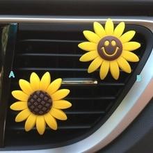 Car Air Freshener Cute Perfume Sunflower Vent Clip Fragrance Scent Diffuser Auto Interior Decor