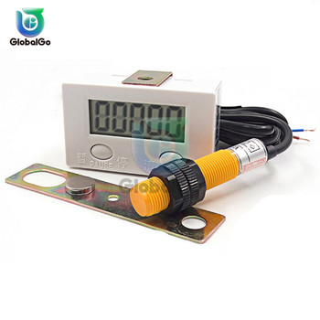 Magnetic Induction LCD Digital Display Counter 0-99999 Industry Magnetic Proximity Sensor Switch Reciprocating Rotary Counters цена 2017