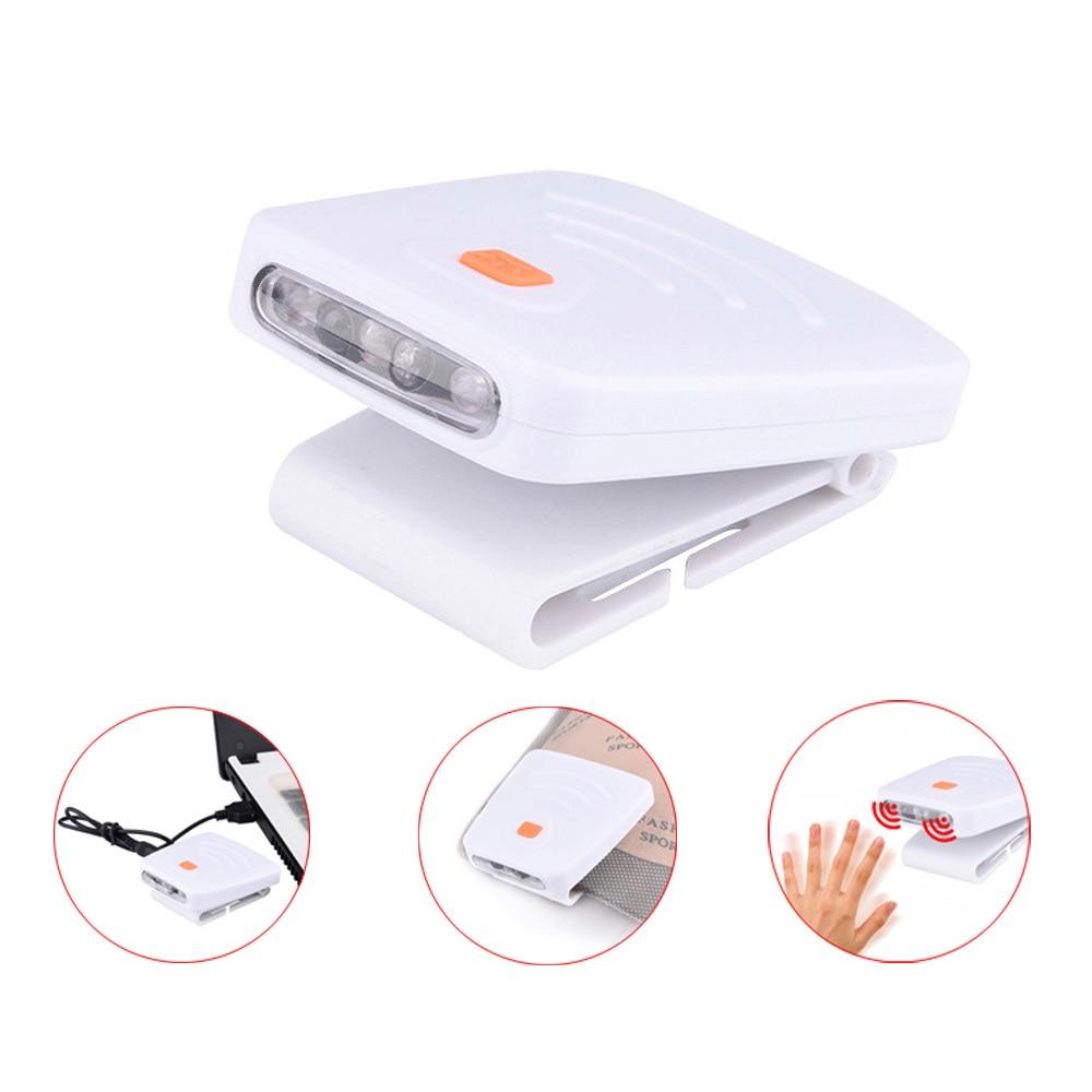 USB Charging Waterproof Headlight Super Bright LED Cap Clip Light Outdoor Camping Hiking Fishing Head Lamp Equipments Supplies