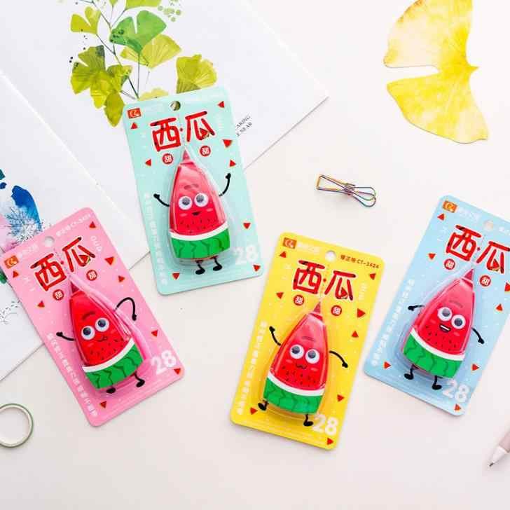 1 pçs kawaii frutas melancia correção fitas escolar papelaria corrector ferramentas coreano artigos de papelaria material escolar de escritório