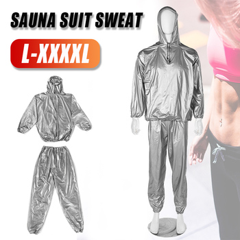 Unisex Sauna Suit PVC Fitness Weight Loss Sweating Sauna Suit Exercise Gym Hoodies Pullover Sports Suit Calories Burner