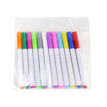 12 sztuk zestaw różne kolory rozpuszczalne w wodzie kreda w płynie pióro do rysowania dla dzieci non-dust Board kreda Marker biuro szkolne tanie i dobre opinie CN (pochodzenie)