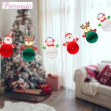 цена PATIAMTE Christmas Banner Merry Christmas Decorations For Home Christmas Ornaments 2019 Navidad Natal Gift Happy New Year 2020 в интернет-магазинах