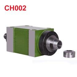 Ch002 0.37kw unidade de cabeça potência cnc máquina ferramenta eixo para fresadora max. rpm 8000 rpm/300 rpm atarraxamento mandril bt30 mt3 er25