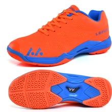 цена Volleyball Shoes Men Women Breathable Badminton Sneakers Orange Blue Training Volleyball Sneaker Men Lightweight Tennis Shoes онлайн в 2017 году