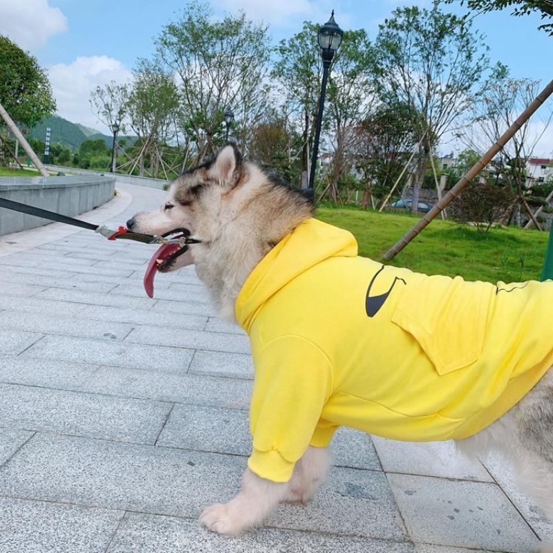 Хлопковая собачья Деми-сезонная толстовка одежда для собак кошек щенок Пудель Bichon Pug Corgi Samoyed Золотая одежда для ретривера Большая одежда для собак