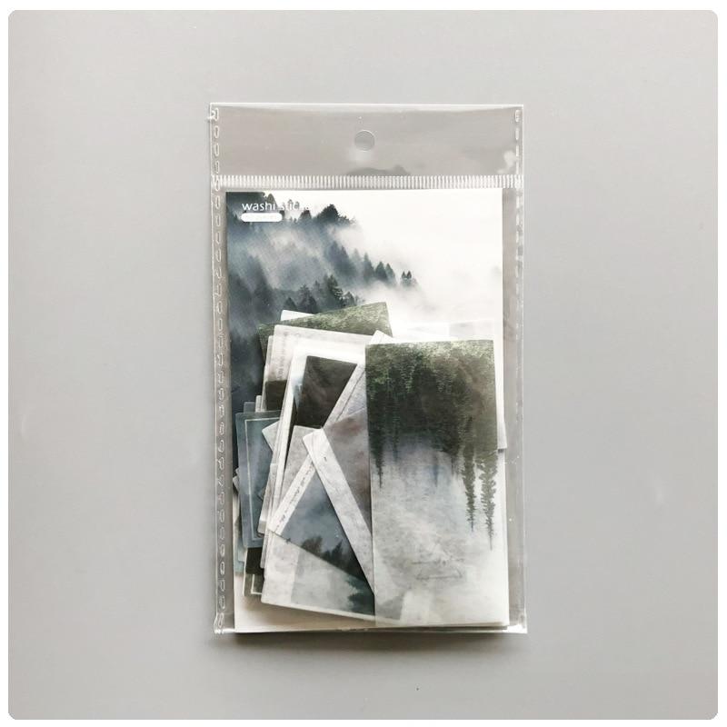 50Pcs/Pack Fog Forest Sticker Diary Decorative Sticker DIY Label Stationery Deco Photograph Album Sticker Flake Scrapbooking 6