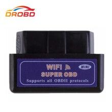 Miniherramienta de diagnóstico de coche, lector de código ELM 327 WiFi para iPhone/iPad, iPod/Android, negro, ELM327 V1.5 OBD2