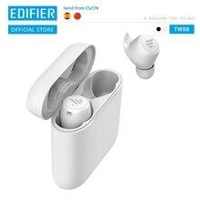 EDIFIER TWS6 Qualcomm aptX Bluetooth V5.0 TWS bezprzewodowe słuchawki douszne sterowana dotykiem IPX5 wodoodporne bezprzewodowe słuchawki do 32 godzin