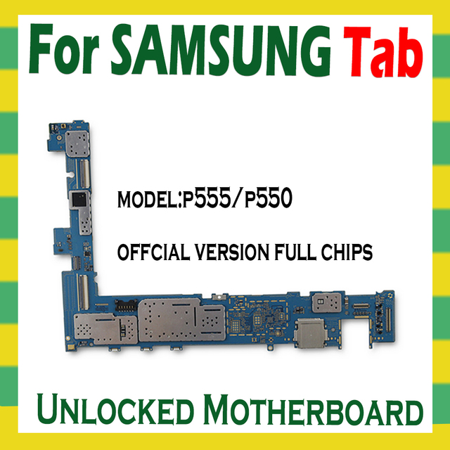 Original Unlocked Motherboard For Samsung Galaxy Tab A 9.7 P555 P550 Tablet main logic board with full chips mainboard Android