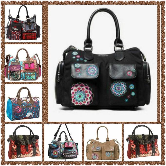 Handbag Women Messenger-Bags Canvas-Shoulder New-Spain Cross-Body Vintage