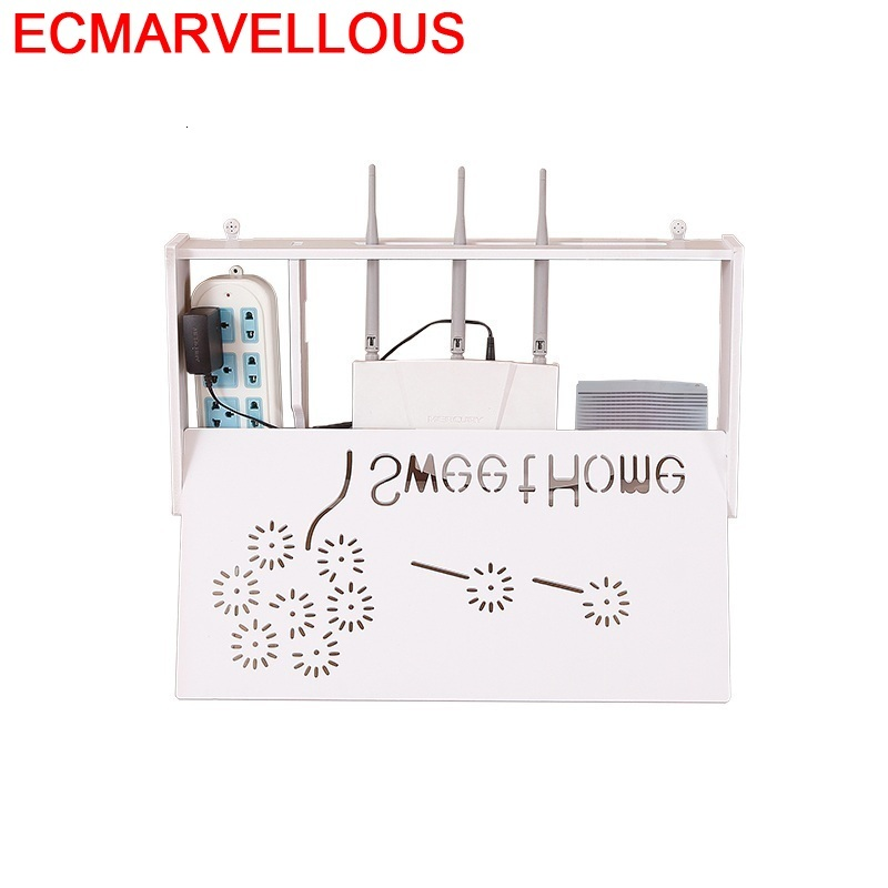 Routeur blindage WIFI salon décoration boîte piles armoire prise couverture TV décodeur étagère stockage cintre
