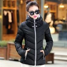 ZOGAA Women Slim Coat Winter Cotton Casual Thick Padded Hooded Parkas Jackets Female Warm Solid Short Zipper Overcoats 2019 HOT цены онлайн