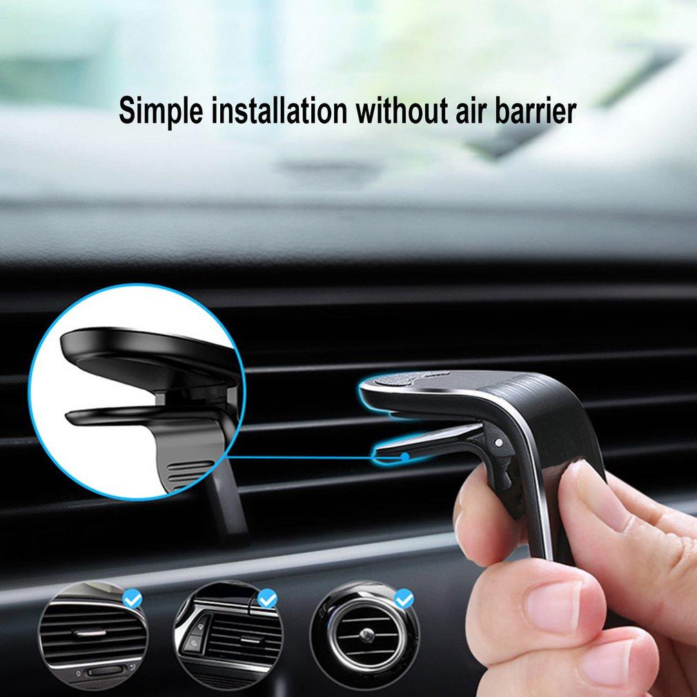 Universal Phone Holder New Design Clip Car Air Vent Magnetic Mount Holder Bracket For Cell Phone Gps Suporte Celular