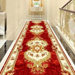 Европейский стиль Коврики для прихожей отель длинная прохода ковровая дорожка в коридор домашний декоративный вход Противоскользящий ков...
