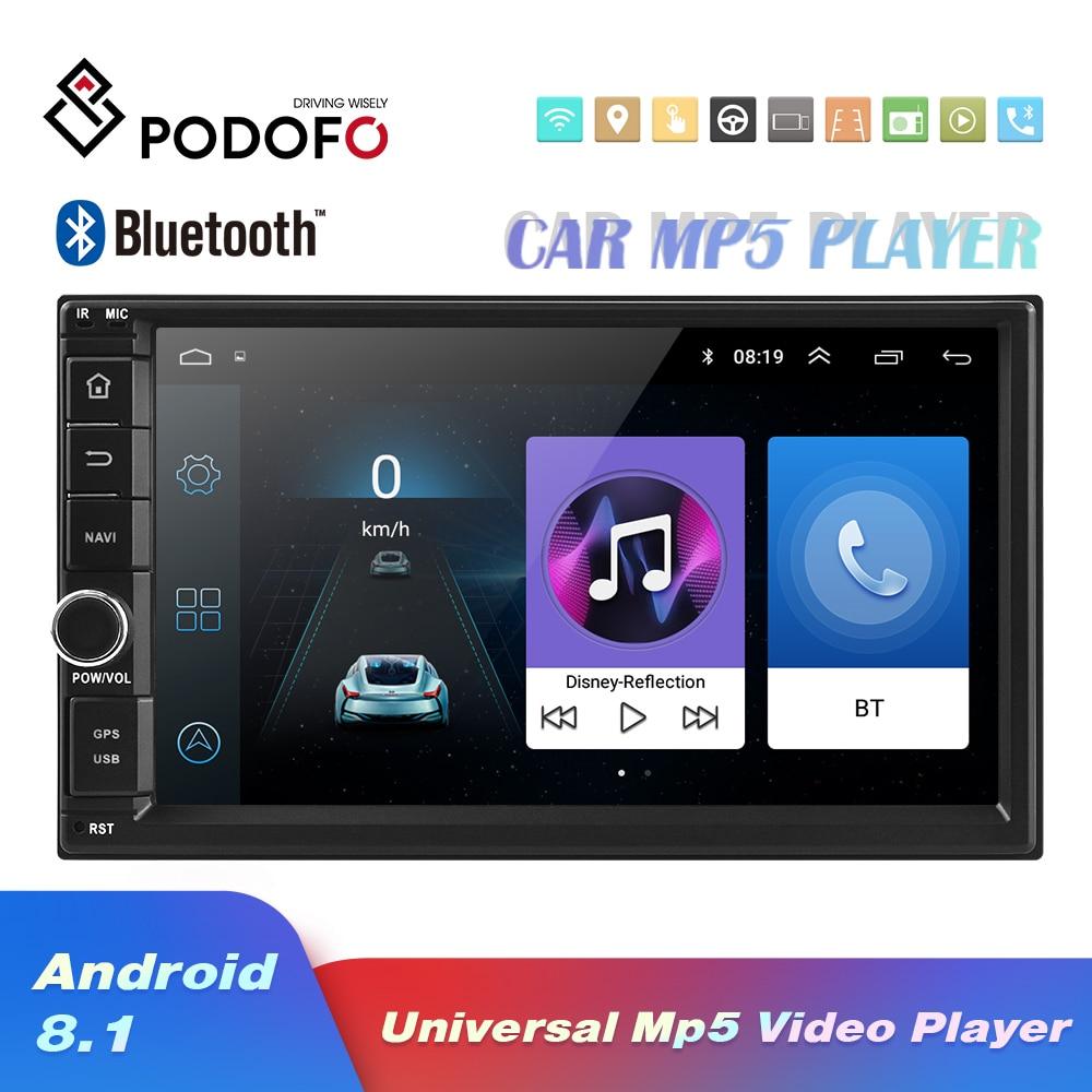 Podofo Multimedia-Player Mirror Link Autoradio Audio Bluetooth WIFI 2din In-Dash Car