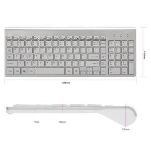Image 4 - NVAHVA clavier sans fil Ultra fin 101 touches 2.4 ghz, clavier sans fil, pour boîtier Android TV Mac Win XP 7 10