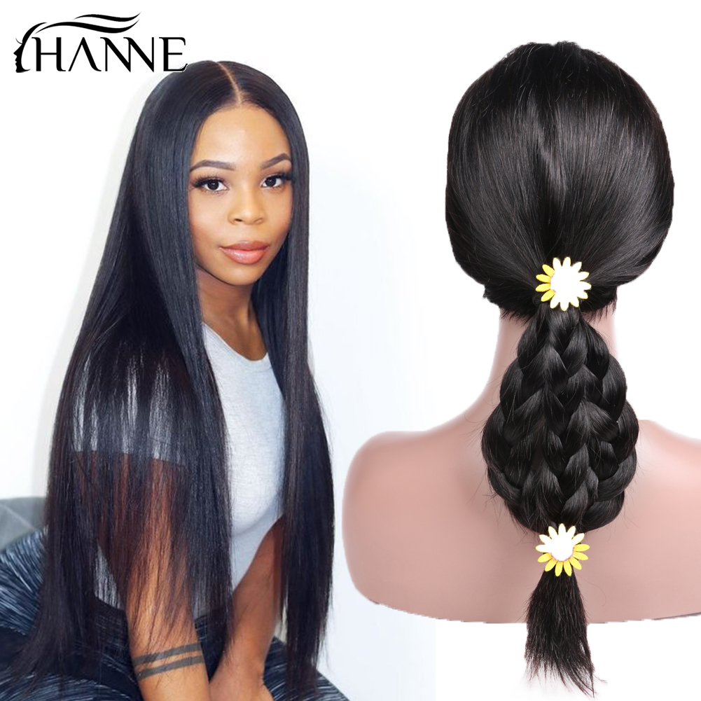 HANNE Hair Brazilian Human Hair Wigs Glueless Lace Front Remy Hair Wig Middle Part Straight Hair Wig For Black Women