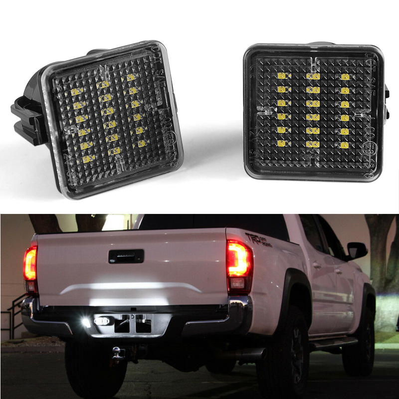DERI 2Pcs Car Led License Plate Light Car Styling Car Accessories Fit For Toyota Tundra 2014-2019 For Toyota Tacoma 2016-2019