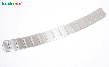 For Mazda 6 Atenza 6 2013 2014 Stainless Steel Outer Rear Bumper Guard Plate Rear Trunk Scuff Plate Door Sill Trim 1pcs