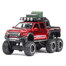 1:32 Suv Toy Car Diecast Metal Model Wheels Kids Toy Vehicle Simulation Fords-F150 Sound Light Car Pull Back Door Open Boy Gift 1 32 diecast model car toy metal wheels corvette sports car simulation sound light pull back car toys for kids collection gift