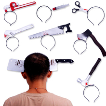 Props Headband Halloween-Accessories Party-Decor Knife Horror Scary Event