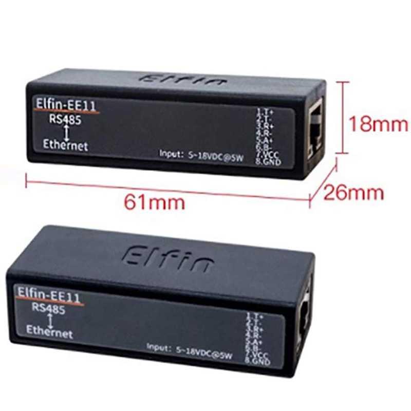 Порт последовательного сервера Rs485 к модулю Ethernet поддерживает Elfin-Ee11 протокол Tcp/Ip Telnet Modbus Tcp