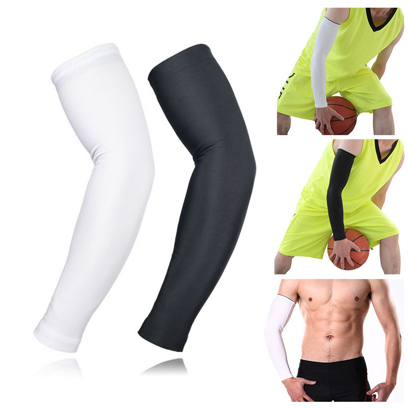 Lengthen Arm Guard Sports Arm Compression Sleeve Basketball Cycling Volleyball Running UV Protection Sunscreen Sleeves