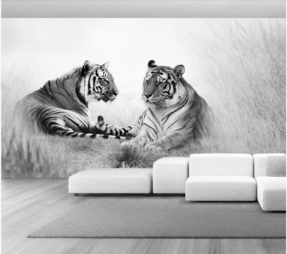 3d Wallpaper Custom Photo Hd Black And White Tiger Background Living Room Home Decor 3d Wall Murals Wallpaper For Walls 3 D Mobile Wallpaper Hd Mobile Wallpaper In Hd From Duoupaa 37 77