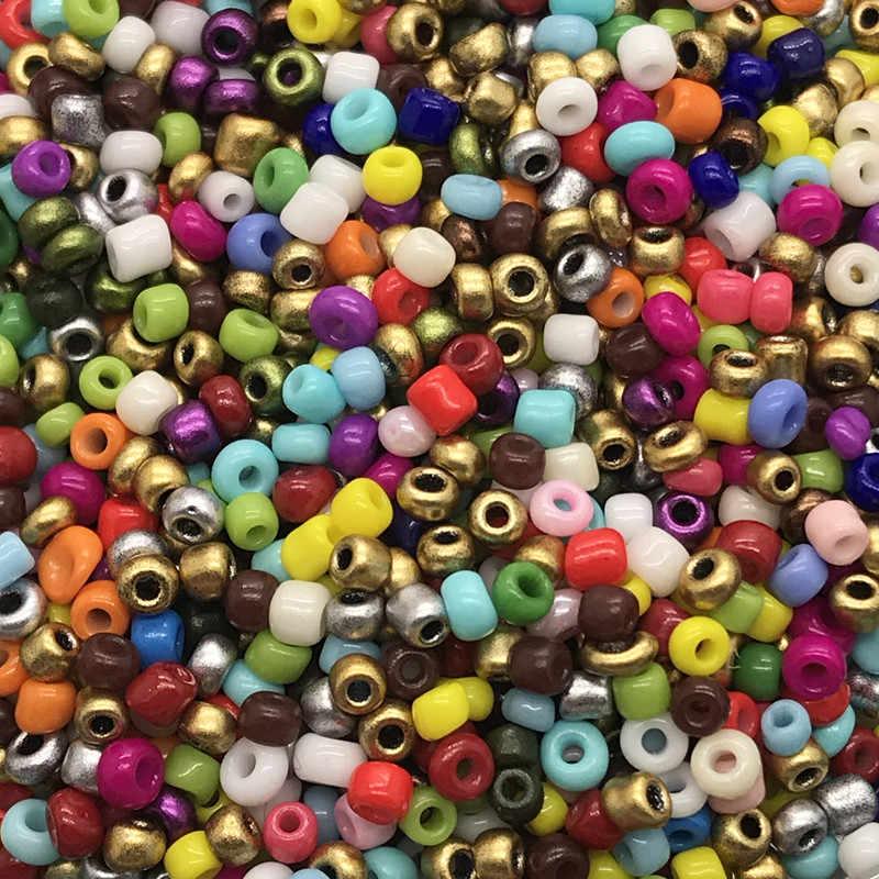 جديد 2 مللي متر 1000 قطعة حجم الزجاج مع البذور خزر عازل صنع المجوهرات المناسب