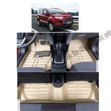 цена на free shipping fiber leather car floor mat carpet rug for ford ecosport 2nd generation 2013 2014 2015 2016 2017