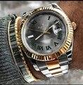 Luxe Merk Nieuwe Mannen Automatische Mechanische Horloge Datejust Rvs Sapphire Zilver Goud Groen Dial Grijs Horloges 41mm AAA +