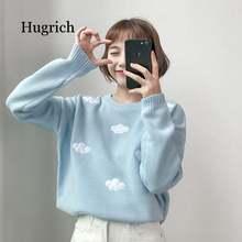 2020 женский кавайный винтажный свободный свитер ulzzang для