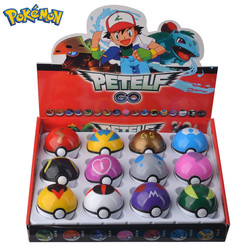 12 Pcs/Set Pocket Monster Pikachu Action Figure Pokemon Game Poke Ball Model Charmander Anime Figure Dolls Toy For Children Gift