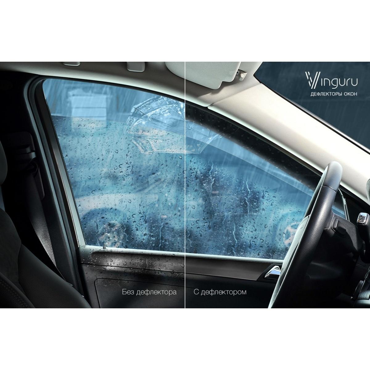 Deflectors หน้าต่าง vinguru Citroen C5 2001-2008 I liftback False กาวเทป